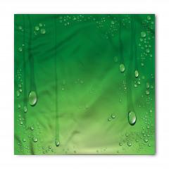 Yeşil Zemin ve Damlalar Bandana Fular