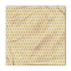 Sarı Haçlı Kafes Bandana Fular