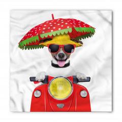 Motosikletli Gözlüklü Köpek Bandana Fular