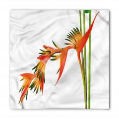 Tropikal Çiçek Desenli Bandana Fular