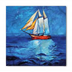 Denizdeki Yelkenli Gemi Bandana Fular