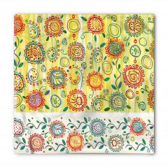 Çiçekli Şal Desenli Bandana Fular