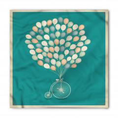 Retro Bisiklet ve Balonlar Bandana Fular