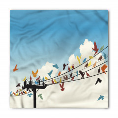 Telgraf Telindeki Rengarenk Kuşlar Bandana Fular