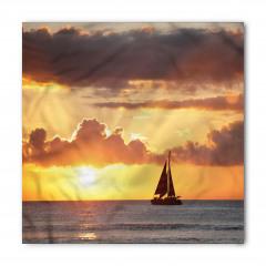 Gün Batımındaki Yelkenli Bandana Fular
