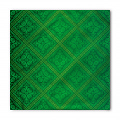 Yeşil Duvar Kağıdı Desenli Bandana Fular