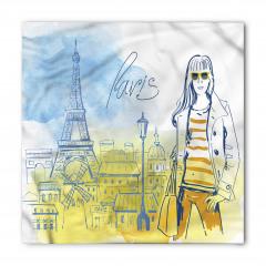 Paris'in Modacı Kızı Bandana Fular