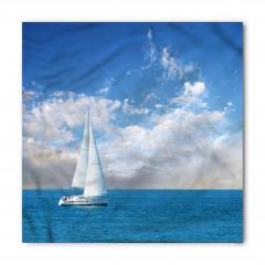 Pamuk Bulutlar ve Yelkenli Bandana Fular