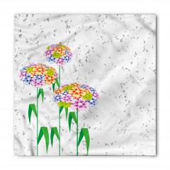 Rengarenk Kır Çiçekleri Bandana Fular