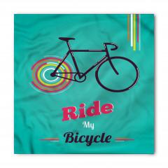 Retro Bisiklet Desenli Bandana Fular