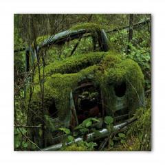 Yosun Kaplı Eski Araba Bandana Fular