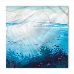 Dalgalı Denizdeki Balıklar Bandana Fular