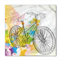 Siyah Bisiklet Desenli Bandana Fular