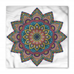 Şık İşlemeli Mandala Çiçeği Bandana Fular