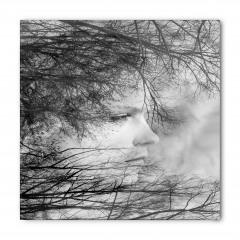 Kadın Portresi ve Ağaçlar Bandana Fular