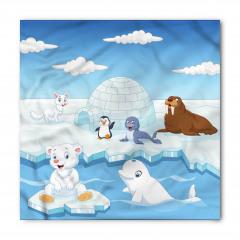Kutup Hayvanları Desenli Bandana Fular