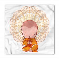 Meditasyon Yapan Minik Keşiş Bandana Fular