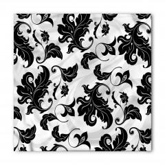 Siyah Yaprak Desenli Bandana Fular