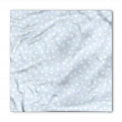 Beyaz Minik Çiçekli Bandana Fular