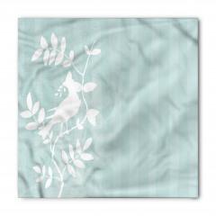 Beyaz Yapraklı Dallar Bandana Fular