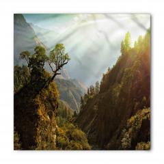 Yeşil Ağaçlı Dağlar Bandana Fular