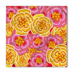 Mor Sarı Çiçekler Bandana Fular