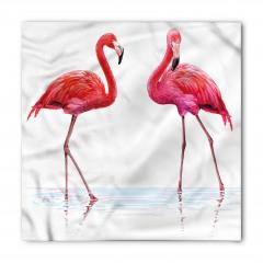Pembe Flamingo Desenli Bandana Fular