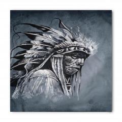 Gri Kızılderili Desenli Bandana Fular