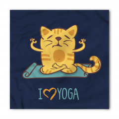 Yogacı Kedi Desenli Bandana Fular
