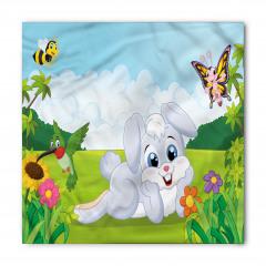 Tavşan Kuş ve Kelebek Bandana Fular