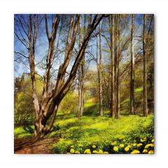 Ağaç ve Sarı Çiçekler Bandana Fular