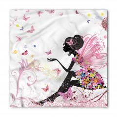 Kelebek Elbiseli Kız Bandana Fular