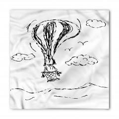 Uçan Balon Desenli Bandana Fular