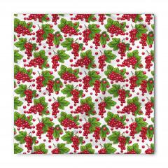 Kırmızı Üzüm Desenli Bandana Fular