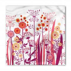 Şık Çiçek ve Yaprak Bandana Fular