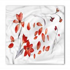 Kırmızı Yapraklar Bandana Fular
