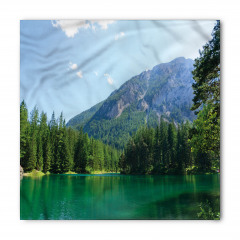 Yeşil Göl ve Ağaçlar Bandana Fular