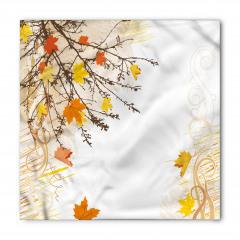 Sarı Yapraklı Ağaçlar Bandana Fular