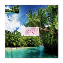 Deniz ve Palmiyeler Bandana Fular