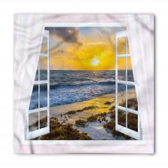 Beyaz Pencere ve Deniz Bandana Fular