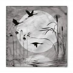 Siyah Kuşlar ve Ay Bandana Fular