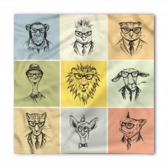 Gözlüklü Hayvanlar Bandana Fular