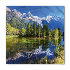 Karlı Dağlar ve Göl Bandana Fular