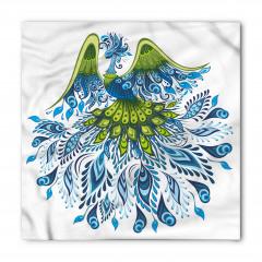 Mavi Yeşil Tavus Kuşu Bandana Fular