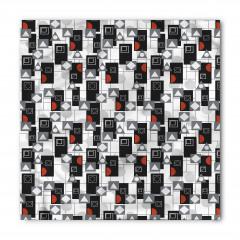 Dekoratif Geometrik Şekiller Bandana Fular