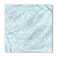 Mavi Beyaz Desenli Bandana Fular