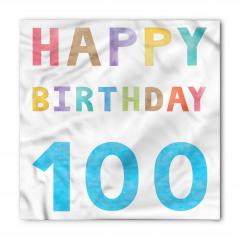 Yüz Yaş Doğum Günü Bandana Fular