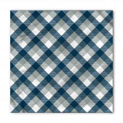 Mavi ve Gri Dörtgenler Bandana Fular