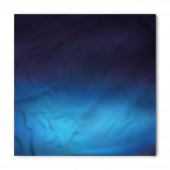 Düz Mavi Desenli Bandana Fular