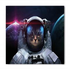Dünya ve Astronot Kedi Bandana Fular